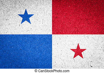 Panamá, bandera, papel, Plano de fondo