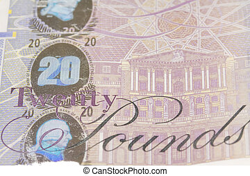 twenty pound - close up image of twenty pound note