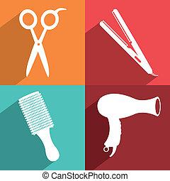 salon design over colors background vector illustration