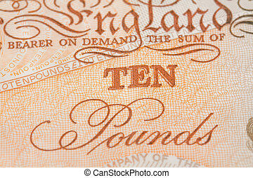 ten pounds - close up image of a ten pound note