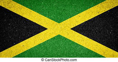 jamaica, bandera, papel, Plano de fondo
