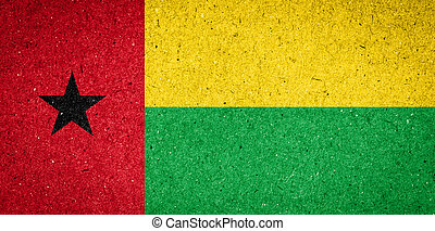 Guinea-Bissau flag on paper background