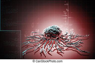 Stem cell - Digital illustration of stem cell in colour...