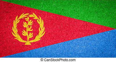 Eritrea flag on paper background