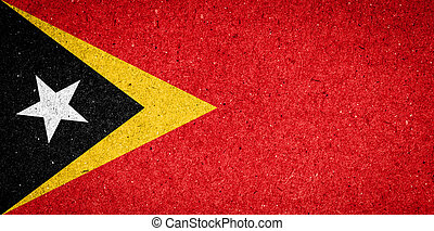 East Timor flag on paper background