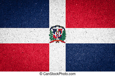 Dominican Republic flag on paper background
