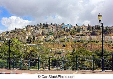 residencial, área, monte, Canaan, Safed, israel