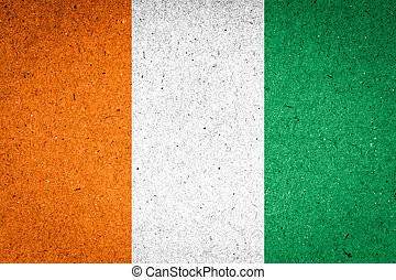 Cote dIvoire flag on paper background