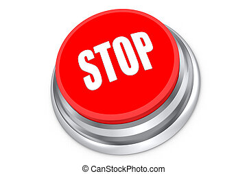 Stop Push Button - Stop push button isolated on white...