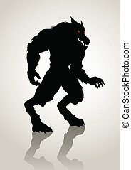 Werewolf - Silhouette illustration of a werewolf