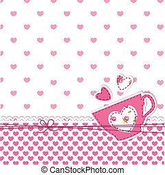 Cup background - Cute abstract pink background with cup