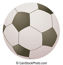 football - Football isolated over white background
