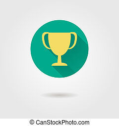 prize cup flat icon vector illustration