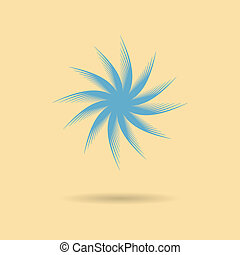 abstract icon tumbleweed with shadow vector illustration