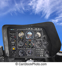 Helicopter Cockpit, instrument and control panel