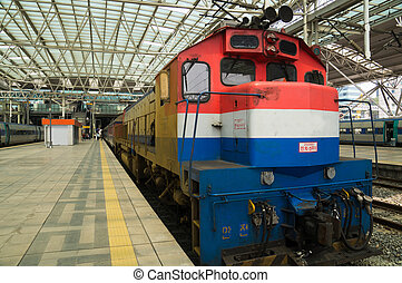Limited Express Saemaul at Seoul station, South Korea. It's...