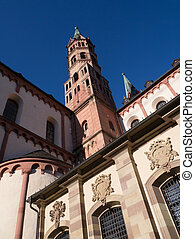 Streetscape of Wurzburg, starting point of Romantic Road in...