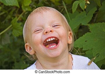 Toddler Laughing Hard