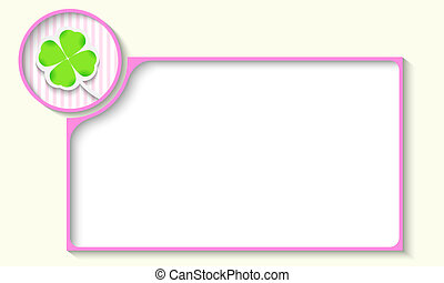 violet frame for any text with cloverleaf