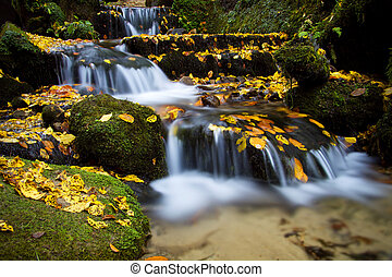 Autumn waterfall, Czech-Saxon Switzerland