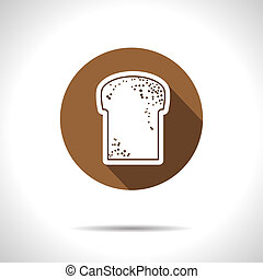 Vector bread icon Eps10 - Vector broun bread flat icon with...