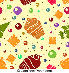 Vector seamless dessert background. Eps10