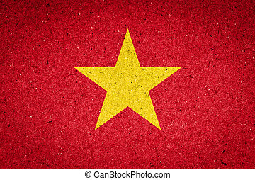 Vietnam flag on paper background
