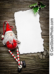 Christmas greeting card - Greeting card for Christmas with...