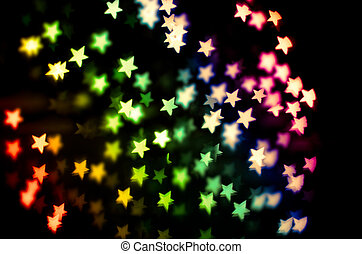 strange bokeh - defocused lights. The star shape of lights...