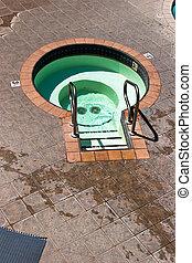 Empty Hot tub - Empty three and a half foot deep mineral hot...