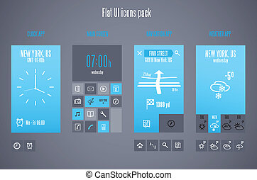 Flat design template for mobile devices - Vector...