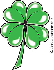Leaf clover icon Vector object on white background