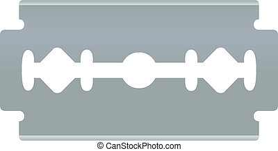 Blade razor. Vector object on white background. - Blade...