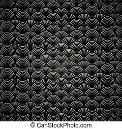 Abstract seamless black and white background with circles.