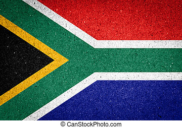 South Africa flag on paper background