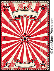 Red circus retro poster - A red and black vintage circus...