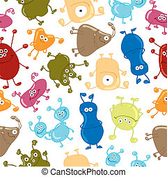 Bacteria Seamless vector pattern Medicine background -...