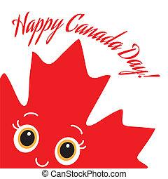 Happy Canada Day card. Vector.