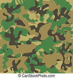 Camouflage seamless pattern. Woodland style vector...