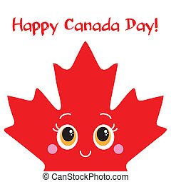 Happy Canada Day card. Vector. Ready design.