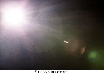 Real Lens Flare and Dusty Atmosphere - Studio Shot -...