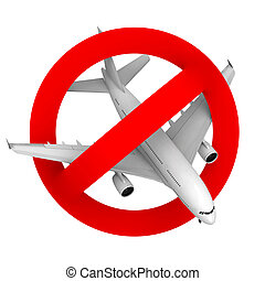 prohibition road sign airplane fighter - prohibition road...