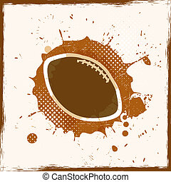 Grunge Dirty Rugby Vector