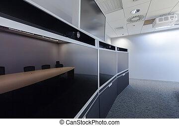 vacío, vídeo, conferencia, habitación,...