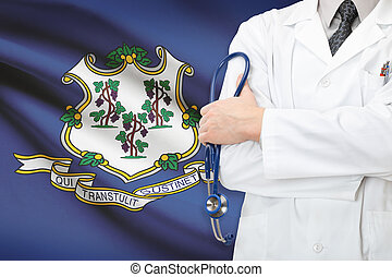 Concept of US national healthcare system - state of Connecticut