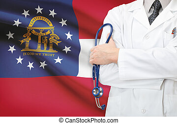 Concept of US national healthcare system - state of Georgia