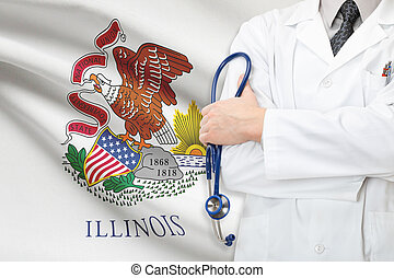 Concept of US national healthcare system - state of Illinois