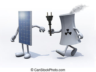 relay between nuclear industry and solar panel, the concept...