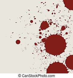 retro vintage bloody grunge splash vector