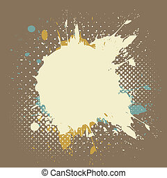 grunge paint splash background - grunge paint splash vector...
